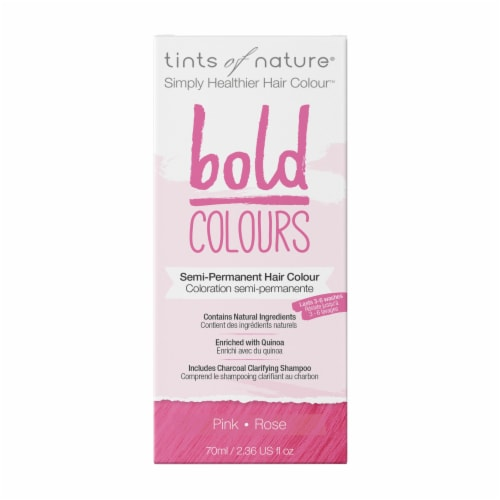 Tints of Nature Bold Colours Pink Semi-Permanent Hair Color Perspective: front