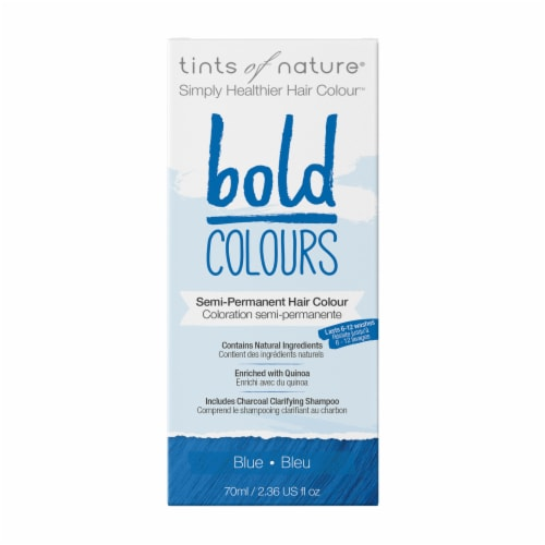 Tints of Nature Bold Colours Blue Semi-Permanent Hair Color Perspective: front