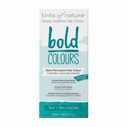 Tints of Nature Bold Colours Teal Semi-Permanent Hair Color Perspective: front