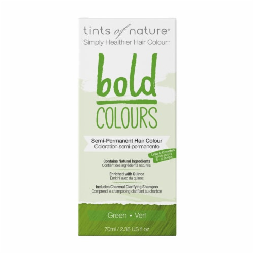 Tints of Nature Bold Colours Green Semi-Permanent Hair Color Perspective: front