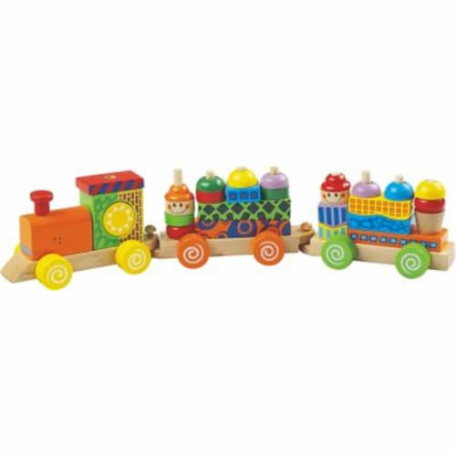 Block Train Puzzle Set with sound Perspective: front