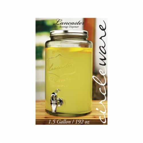 Circleware 92004 1.5 gal Lancaster Beverage Dispenser Perspective: front