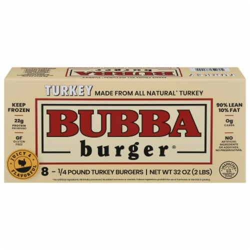 Bubba Burger Gluten Free Turkey Burgers Perspective: front