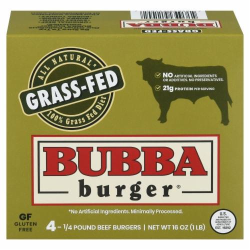 Bubba Burger Gluten Free Grass Fed Beef Burger Perspective: front
