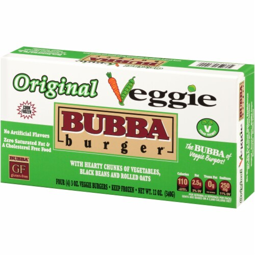 Bubba Burger Gluten Free Veggie Burgers 4 Count Perspective: front