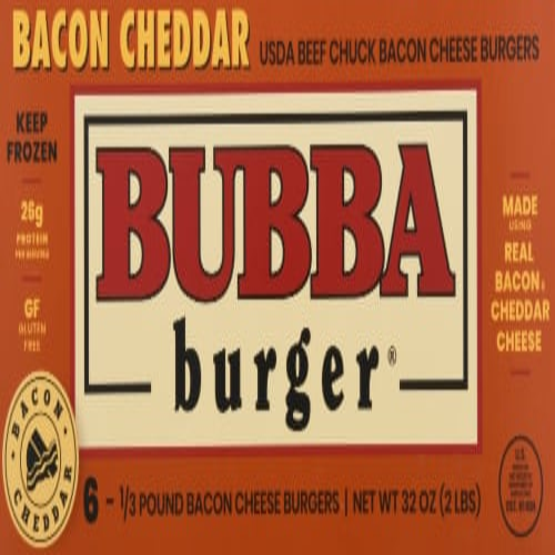 Bubba Burger Gluten Free Bacon Cheddar Cheeseburgers Perspective: front