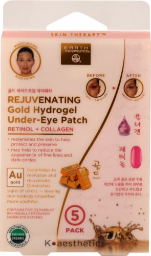 Earth Therapeutics Hydrogel Undereye Patch-Rose Perspective: front