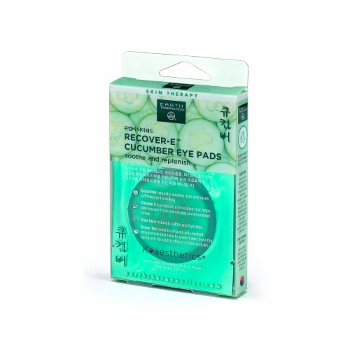 Earth Therapeutics Recover - E Cucumber Eye Pads Perspective: front
