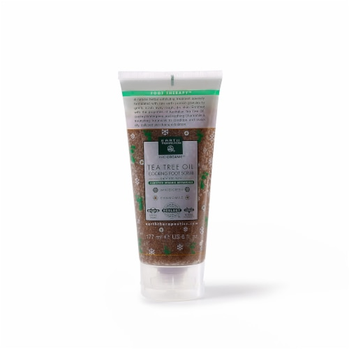 Earth Therapeutics Tea Tree Oil Cooling Foot Scrub Perspective: front