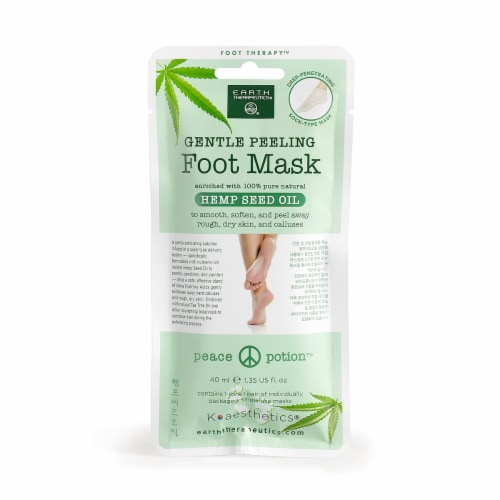 Earth Therapeutics® Hemp Seed Oil Peeling Foot Mask Perspective: front