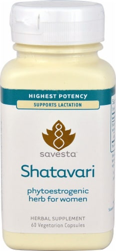Savesta Shatavari Herbal Supplement Capsules 500mg Perspective: front