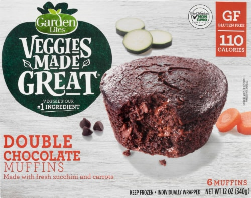 Garden Lites Veggies Made Great Double Chocolate Muffins 6 Count Perspective: front