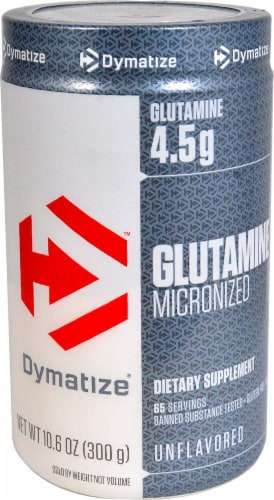 Dymatize  Glutamine Micronized Perspective: front