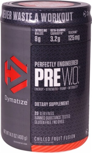 Dymatize  PreW.O.™   Chilled Fruit Fusion Perspective: front