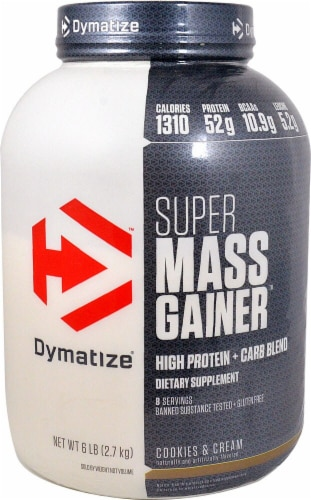 Dymatize  Super Mass Gainer   Cookies & Cream Perspective: front