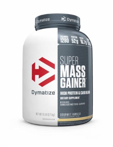 Dymatize Super Mass Gainer Gourmet Vanilla Dietary Supplement Perspective: front