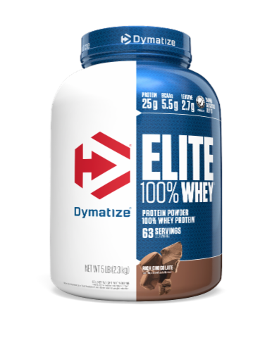 Dymatize  Elite 100% Whey Protein   Rich Chocolate Perspective: front