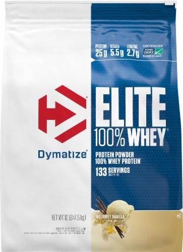 Dymatize Elite 100% Whey Gourmet Vanilla Protein Powder Perspective: front