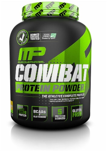 MusclePharm  Combat Protein Powder®   Banana Cream Perspective: front