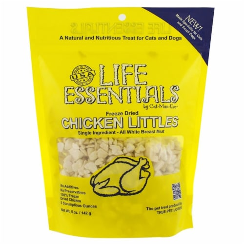 Cat Man 30579065 Doo Freeze-Dried Chicken Littles Food for Dog & Cat - 5 oz Perspective: front