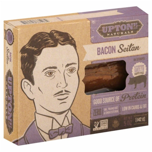 Upton's Naturals Seitan Style Bacon in Strips Perspective: front