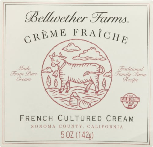 Bellwether Farms Creme Fraiche French Cultured Cream Cheese Perspective: front