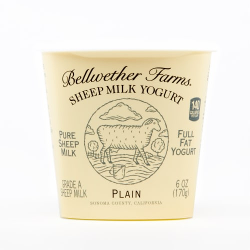 Bellwether Farms Plain Sheep Milk Yogurt Perspective: front