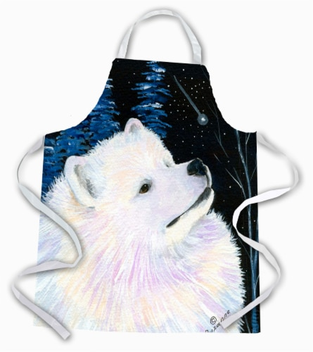Carolines Treasures  SS8376APRON Starry Night Samoyed Apron Perspective: front