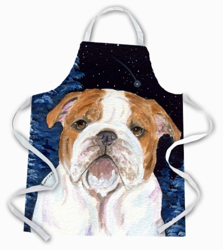 Carolines Treasures  SS8447APRON Starry Night English Bulldog Apron Perspective: front