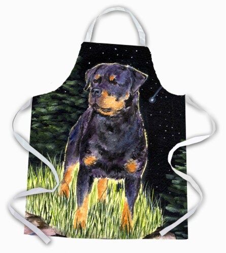 Carolines Treasures  SS8475APRON Starry Night Rottweiler Apron Perspective: front