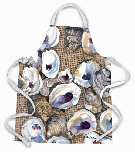 Carolines Treasures  8734APRON Oyster  Apron Perspective: front
