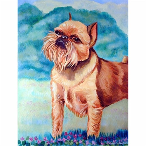 Carolines Treasures  7016CHF Brussels Griffon Flag Canvas House Size Perspective: front