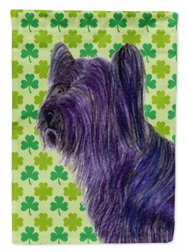 Carolines Treasures  SS4394-FLAG-PARENT Skye Terrier St. Patrick's Day Shamrock Perspective: front