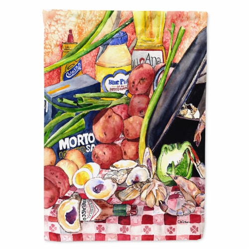 Carolines Treasures  8825-1CHF Gumbo and Potato Salad  Flag Canvas House Size 88 Perspective: front
