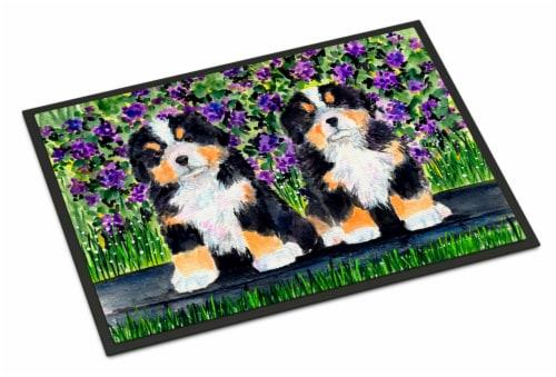 Carolines Treasures  SS8334MAT Bernese Mountain Dog Indoor Outdoor Mat 18x27 Doo Perspective: front