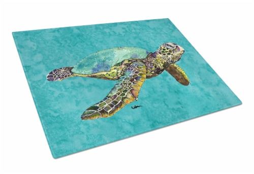 Carolines Treasures  8659LCB Turtle  Glass Cutting Board Large Perspective: front