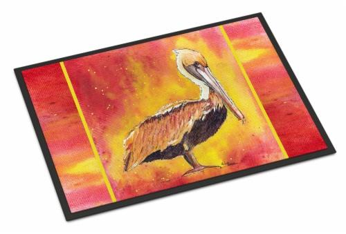 Carolines Treasures  8344-MAT Pelican  Indoor or Outdoor Mat 18x27 8344 Doormat Perspective: front