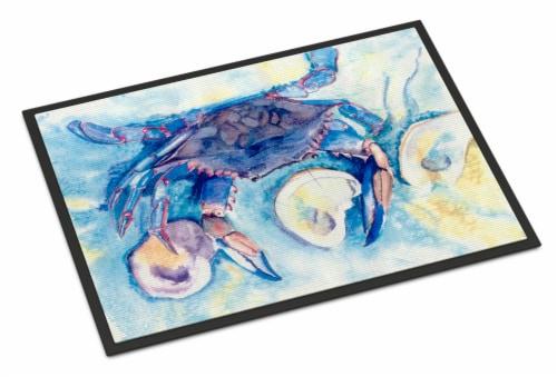 Carolines Treasures  8042-MAT Crab  Indoor or Outdoor Mat 18x27 8042 Doormat Perspective: front