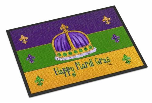 Carolines Treasures  8385JMAT Mardi Gras Indoor or Outdoor Mat 24x36 Doormat Perspective: front