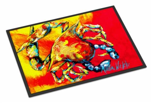Carolines Treasures  MW1086MAT Crab Hot Dang Indoor or Outdoor Mat 18x27 Doormat Perspective: front