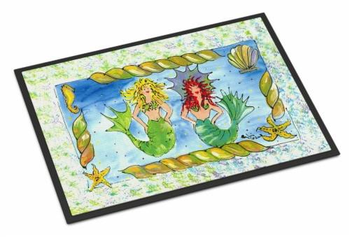 Carolines Treasures  8083-JMAT Mermaid  Indoor or Outdoor Mat 24x36 8083 Doormat Perspective: front