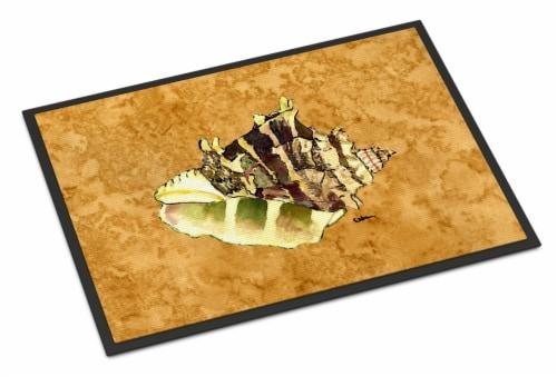 Carolines Treasures  8658-JMAT Shell  Indoor or Outdoor Mat 24x36 8658 Doormat Perspective: front