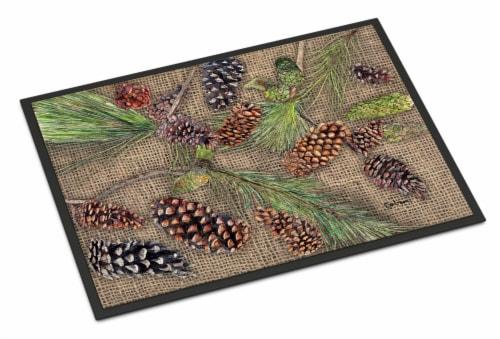 Carolines Treasures  8735JMAT Pine Cones  Indoor or Outdoor Mat 24x36 Doormat Perspective: front