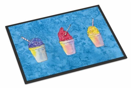 Snowballs and Snowcones  Indoor or Outdoor Mat 24x36 Doormat Perspective: front