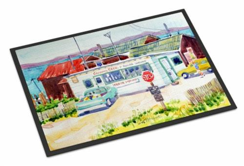 Seafood Shack for fresh shrimp Indoor or Outdoor Mat 24x36 Doormat Perspective: front
