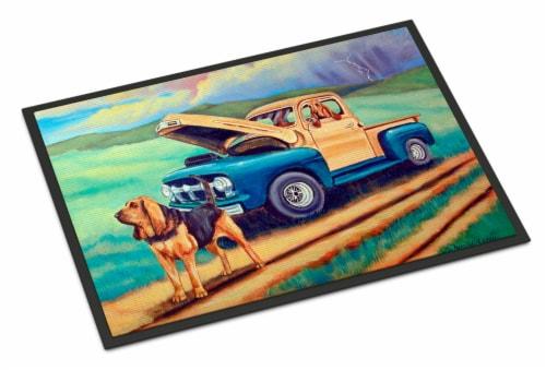 Carolines Treasures  7513JMAT Bloodhound Indoor or Outdoor Mat 24x36 Doormat Perspective: front
