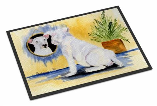 Carolines Treasures  SS8135JMAT Bull Terrier Indoor or Outdoor Mat 24x36 Doormat Perspective: front