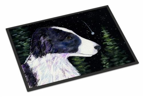 Starry Night Border Collie Indoor or Outdoor Mat 24x36 Doormat Perspective: front