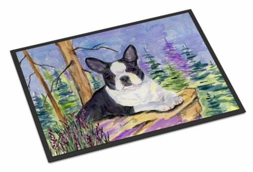 Carolines Treasures  SS8638JMAT Boston Terrier Indoor or Outdoor Mat 24x36 Doorm Perspective: front