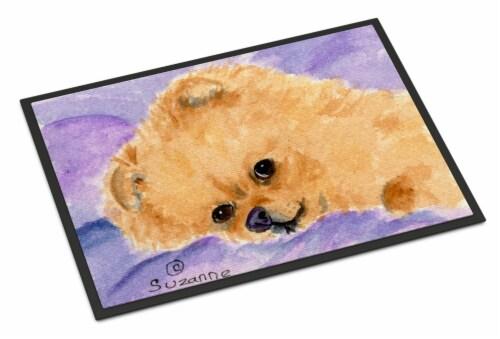 Carolines Treasures  SS8834JMAT Pomeranian Indoor or Outdoor Mat 24x36 Doormat Perspective: front